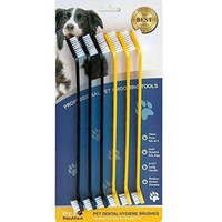 Pet Republique Cat & Dog Toothbrush Set of 6 / 3 – Dual Headed Dental Hygiene Brushes for Small to Large Dogs, Cats, & Most Pets