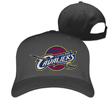 Cool Cleveland Cavaliers CAVS Logo Fashion Peaked Cap Truckers Casquette Baseball Hat Black