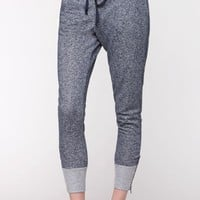 LA Hearts Zipper Cuff Jogger Ankle Pants - Womens Pants - Blue