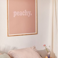 Honeymoon Hotel Peachy Art Print | Urban Outfitters