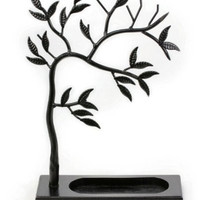 LilGift Metal Jewelry Tree - Necklace, Bracelet, Earring and Ring Jewelry Holder (BLACK)