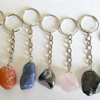 Various Tumbled Stones Keychain