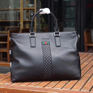 GUCCI MEN'S 2018 NEW STYLE LEATHER BRIEFCASE BAG CROSS BODY BAG