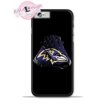 Baltimore Ravens Football Glove Phone Cover Case For Apple iPhone X 8 7 6 6s Plus 5 5s SE 5c 4 4s For iPod Touch