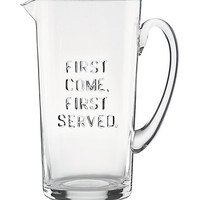 Kate Spade First Come First Served Pitcher Clear ONE