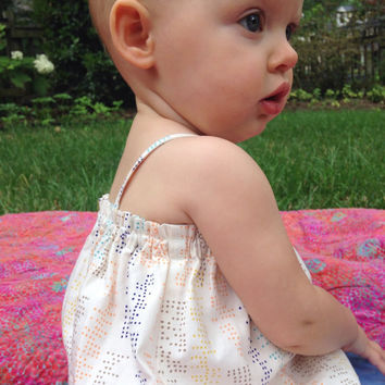 Baby Girl Sunsuit Romper - Made to Order - Modern Baby Bubble Romper -  Unique Baby Girl Romper - Baby Girl Summer Outfit