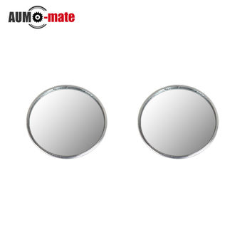 1Pair New Driver Side Wide Angle Round Convex Car Vehicle Mirror Blind Spot Auto RearView