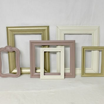 Shabby Chic Picture Frame Collection - Set of Frames - Antique Frames - Vintage Style - Nursery Frames - Wedding Frames - PICTURE FRAMES