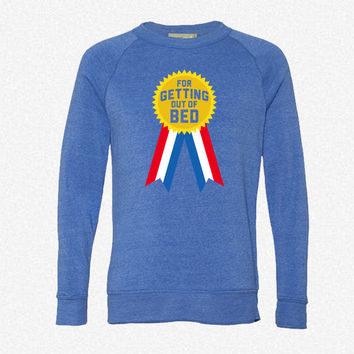For Getting Out Of Bed 6_Rectangle fleece crewneck sweatshirt