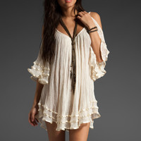 Jen's Pirate Booty Nena Open Shoulder Dress in Natural from REVOLVEclothing.com