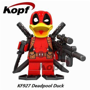 Deadpool Dead pool Taco 20Pcs Super Heroes  Duck She- Toxin The Flash The Shocker Michael Myers Building Blocks Toys for children KF927 AT_70_6