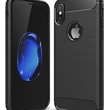 West Basics iPhone X Case with Flexible TPU - Premium Hybrid Protective Case for Apple iPhone X (2017)