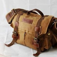 new arrival Canvas DSLR Camera Bag Shoulder Messenger Bag For Sony Canon Nikon