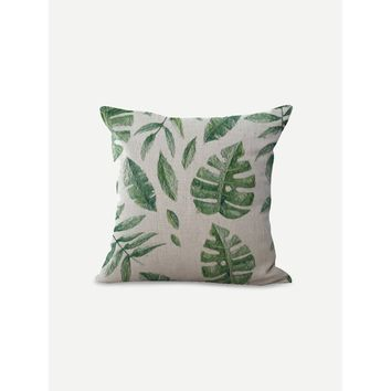 Tropical Print Pillowcase