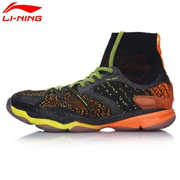 Li-Ning New Men Ranger Professional Badminton Shoes Breathable High Cut Cushion BOUNSE+ LiNing Sports Shoes Sneakers AYAM009-2C