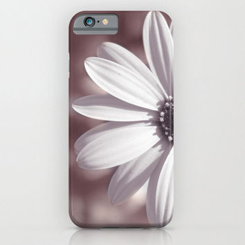Valentine's Day Gift HIGH QUALITY iPhone CASE - iPhone6 iPhone6 Plus iPhone5 Slim and Tough options available -White Daisy Floral Phone Case