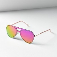 Over The Rainbow Aviator Sunglasses | Urban Outfitters