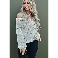 Shawn Speckled Sweater (Cream)