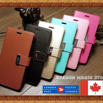 Luxary Leather Wallet Case Cover Kick for iPhone 6 7 8 / 6 7 8 Plus / X
