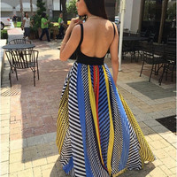 Collage Maxi Skirt