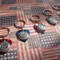 Military Emblem Key Chain, 16 Colors Choice, Army, Navy, Air Force, Marines, Coast Guard, USA Armed Forces