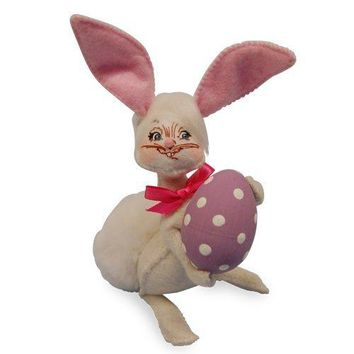 Annalee Dolls 5in 2016 Easter Bunny with Egg Plush New with Tags