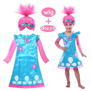Kids 2017 Girls Summer Cartoon Girls Dress Children Clothing pattern Baby Girls Frock Clothes vestidos Nightdress