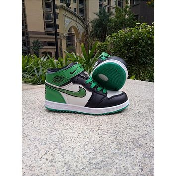 Kids Air Jordan 1 Green Sneaker Shoe Size US 11C-3Y