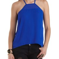 Racer Front High-Low Tank Top by Charlotte Russe