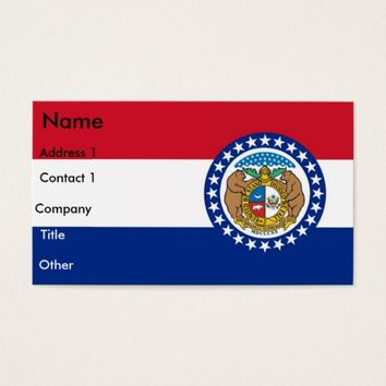 Business Card with Flag of Missouri U.S.A.