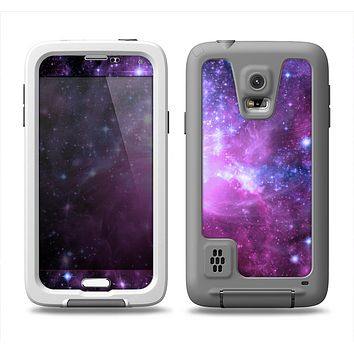 The Violet Glowing Nebula Samsung Galaxy S5 LifeProof Fre Case Skin Set