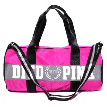 Victoria pink sports fitness yoga package hold-all duffel bag Pink