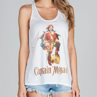 Captain Morgan Womens Tank White  In Sizes