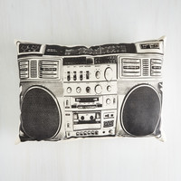 Boombox! Shake the Room Pillow | Mod Retro Vintage Decor Accessories | ModCloth.com