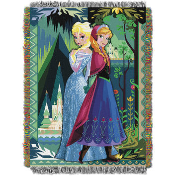 Disney's Frozen Two Worlds One Heart  Woven Tapestry Throw (48inx60in)
