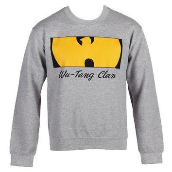 Wu-Tang Clan Boxed Logo Licensed Adult Crew Neck Sweatshirt - Heather Gray
