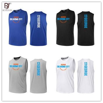 BONJEAN Design 13 Paul George Printing Jersey Top Quality Uniforms Sports Basketball Jerseys Breathable Training Shirts