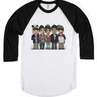 Janoskians cartoon 2-Unisex White/Black T-Shirt
