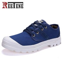 New Canvas Shoes Men Flat Heel Blue Shoes High Quality Casual Shoes
