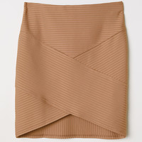 Fitted Skirt - Beige - Ladies | H&M US