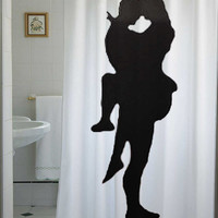 Sexy Lovers Shower Curtain Bathroom Decor Bath Romantic Embrace RomanceGuy Man Pin Up Girl  Woman Male Female