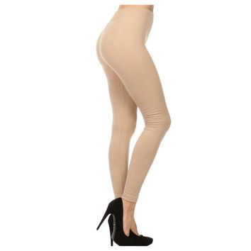 """Your New Favorites! Must Have """"Amazing"""" No Peek -a-Boo See Through Khaki Tan Leggings"""