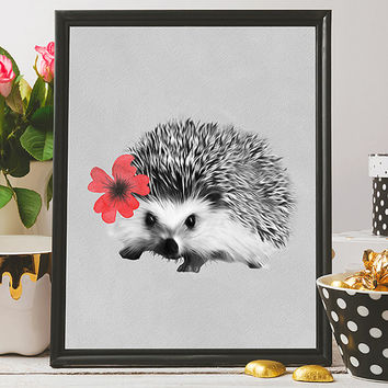 Free to Dream hedgehog art, hedgehog print, animals printable art, hedgehog wall art, animals print, wall decor, printable art, home decor