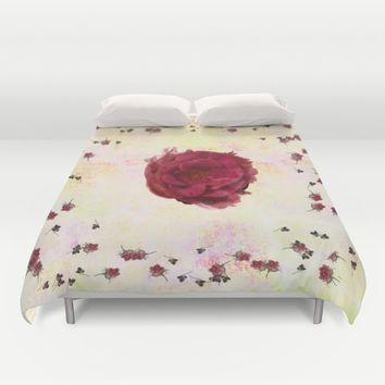 Sweet Aroma Rose Duvet Cover by anipani