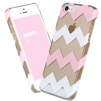 iPhone 5s Case, ESR the Beat Series[Hard Version][Protective Case [Ultra Slim][Light Weight][Scratch-Resistant] [Perfect Fit] Hard Back Cover for iPhone 5/5s (Pink Chevron)