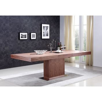 "Casabianca Ponte Collection TC-0067-WAL 71""-94 Extendable Dining Table"