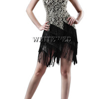 Women roaring 20s 1920S Art Deco Sequin Paisley Great Gatsby Flapper Dance Girl Tassel Glam Party Dress Costume Pattern Style