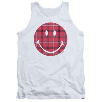 Smiley World - Plaid Face Adult Tank