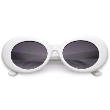 Retro Clout Oval Round 90's Gradient Lens Sunglasses C448