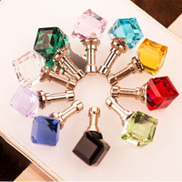 1PCS Bling Diamond Water Cube Crystal Anti Dust Plug Earphone jack headphones For iphone Samsung Xiaomi HTC Phone Accessories